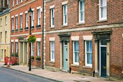 English town houses Royalty Free Stock Images