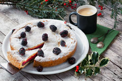 English Trifle Filled Pie Royalty Free Stock Photos
