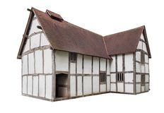 English Tudor House cut-out Stock Images