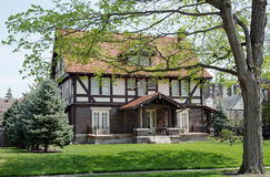English Tudor House in Spring Royalty Free Stock Images