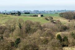 English upland farming landscape Royalty Free Stock Photos