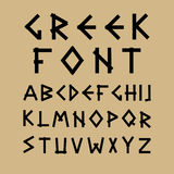 English vector alphabet in ancient style. Stock Photos