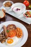 English vegetarian breakfast and granola Stock Photos