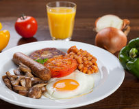 English vegetarian breakfast Royalty Free Stock Images