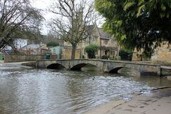English village bridge landscape Stock Photo