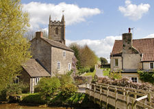 English Village with Church Royalty Free Stock Photo