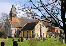 An English Village Church and Belfry Royalty Free Stock Photos