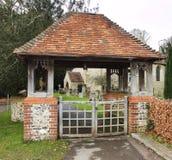 An English Village Church and Cemetery Stock Photos