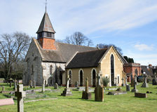 English Village Church and Graveyard Royalty Free Stock Photo