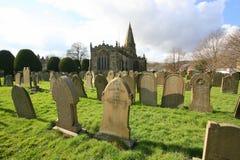 English village church graveyard Royalty Free Stock Photos
