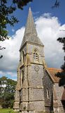 An English Village Church and Steeple Stock Image