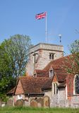 An English Village Church and Tower Royalty Free Stock Photos