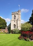 An English Village Church and Tower Stock Image