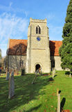 An English Village Church and Tower Stock Photos