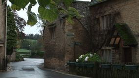 English village on a cold day. English village in the cotswolds stock video