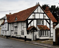 English Village Cottage. Quaint Timber Framed English Village Cottage Stock Photo
