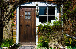 English Village Cottage. Quaint Timber Framed House in a Rural English Village stock image