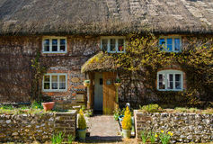 English Village Cottage. Quaint Timber Framed House in a Rural English Village stock images