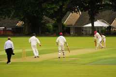 English village cricket, Yorkshire Stock Photos