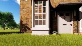 English village house stock footage