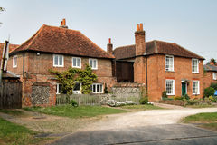 English Village Houses. Local Brick built  Village Houses in Rural England Royalty Free Stock Photos