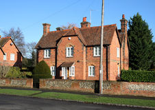 English Village Houses Stock Photo