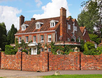 English Village Manor House Stock Images