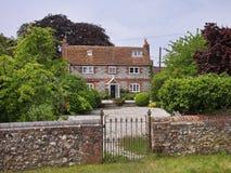 English Village Manor House Stock Photo