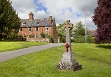 English Village with stone cross Stock Photos