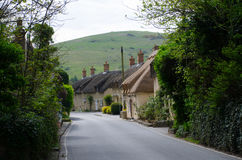 English Village Street with cottages Stock Images