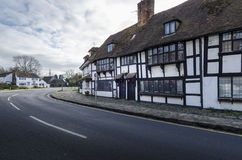 English village with timber framed houses, Biddenden, Kent. UK Stock Photos