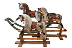 English Vintage Childrens Rocking Horses Stock Images