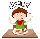 English vocabulary word disgust vector illustration