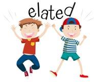 English vocabulary word elated royalty free illustration