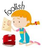 English vocabulary word foolish. Illustration vector illustration
