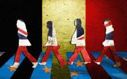 English walk away from Europe Stock Photo