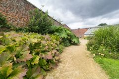 English Walled garden royalty free stock images