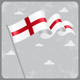 English wavy flag. Vector illustration. Royalty Free Stock Photography