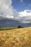 English weather. Rain clouds over rural Warwickshire, England Royalty Free Stock Photos