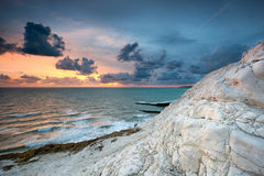 English white cliffs at sunset Royalty Free Stock Photography