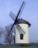 English Windmill. Small English windmill on a frosty morning Royalty Free Stock Photos