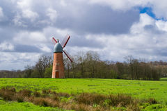 The English windmill. Royalty Free Stock Images
