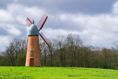 The English windmill. Royalty Free Stock Photography