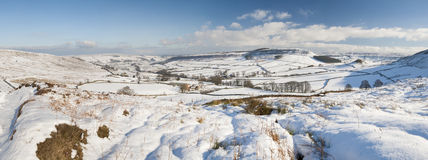 English winter countryside snowy landscape royalty free stock photo