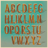 English wooden alphabet Royalty Free Stock Photo