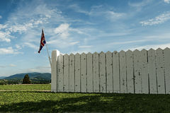 English wooden fence Stock Photo