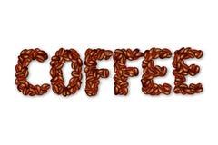English word COFFEE. Royalty Free Stock Photo