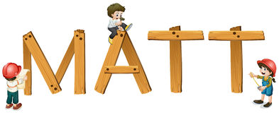 English word matt Royalty Free Stock Images