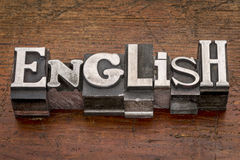 English word in metal type Royalty Free Stock Image