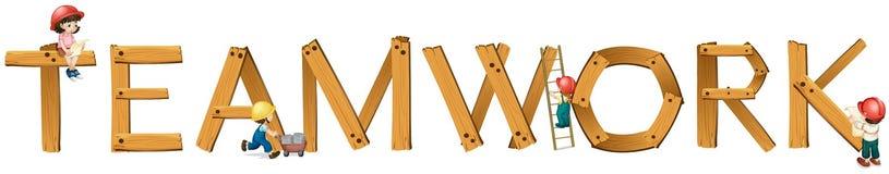 English word teamwork Stock Images